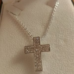Cross necklace crystallized with swarovski